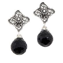 Ottoman Sterling Silver Briolette Gemstone Drop Earrings
