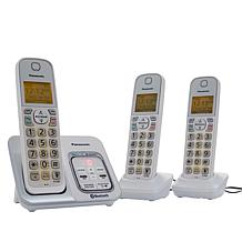 Panasonic Cordless 3-Handset Phone System with Link2Cell
