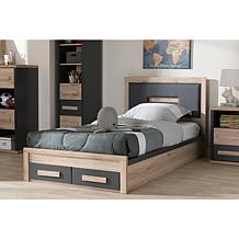 Pandora Two-Tone 2-Drawer Twin Size Storage Platform Bed