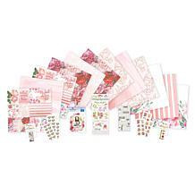 Paper House Pink Floral Paper Crafting Bundle