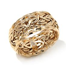 Passport to Gold 14K Byzantine Link Band Ring