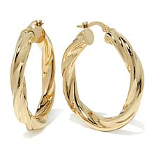Passport to Gold 14K Twisted Hoop Earrings