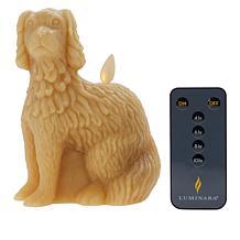 Patricia Altschul Staffordshire Spaniel Dog Shape Candle by Luminara