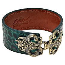 Patricia Nash Avena Leather Filigree Clasp Cuff