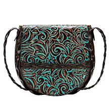 Patricia Nash Cavallina Floral Leather Saddle Bag