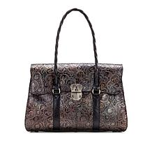 Patricia Nash Vienna Coin Tooling Leather Satchel