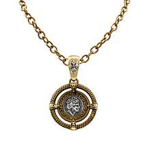 Patricia Nash World Coin Medallion Enhancer Pendant with Chain