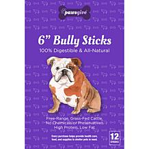 PawsGive  Bully Sticks for Dogs 6 in - 12 Sticks