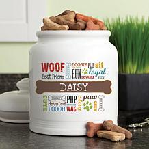 Personalized Dog Words Treat Jar