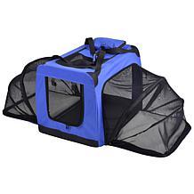 Pet Life Soft Folding Collapsible Expandable Pet Dog Crate