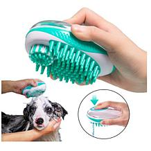 Pet Life Swasher Shampoo Dispensing Massage and Bathing Brush