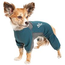 Pet Life 4-Way-Stretch Breathable Full Body Dog Warmup Track Suit