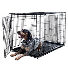PETMAKER 2-Door Foldable Dog Crate