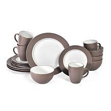 Pfaltzgraff 16-piece Harmony Taupe Dinnerware Set