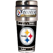NFL Travel Tumbler w/ Metallic Graphics and Team Logo