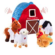 Plush Creations Barn House 5-piece Set of Talking Animals