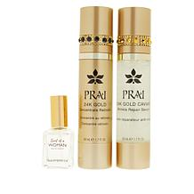 PRAI 24K Gold Day and Night Serums with Eau de Parfum
