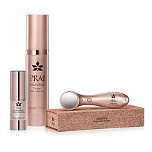 PRAI Ageless Throat Ionic Device & Serum with Night Serum