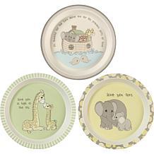 Precious Moments 3-Piece Bamboo Plate Set
