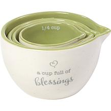 Precious Moments A Cup Full Of Blessings 4-piece Measuring Cup Set