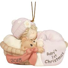 Precious Moments Baby Girl's First Christmas 2018 Ornament