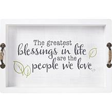 Precious Moments The Greatest Blessings Wood Decorative Serving Tray