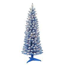 Puleo International 4.5' 100-Light Artificial Christmas Tree, Blue
