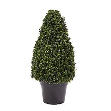 """Pure Garden Artificial Boxwood Tower Topiary 36"""" Faux Plant"""