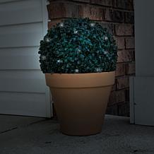 Pure Garden Solar Topiary Light Ball w/White LED Lights