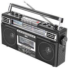 QFX ReRun X Cassette Player Boombox with 4-Band Radio & MP3 Converter