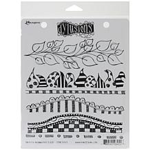 Ranger Dylusions Stamp Set - Further Around The Edge