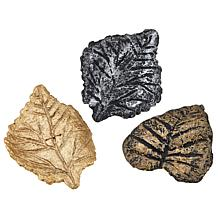 Rara Avis by Iris Apfel Set of 3 Painted Paper Leaf Brooches