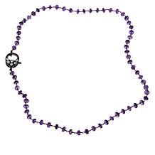 """Rarities 30"""" Gemstone Beaded Chain with Black Spinel & Moonstone Clasp"""