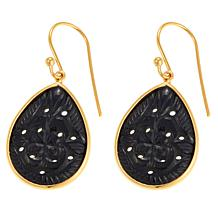 Rarities Pear-Shaped Carved Gemstone Drop Earrings