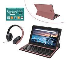 """RCA 11.6"""" 128GB 2-in-1 with Keyboard and DJ Headphones"""