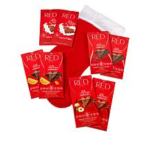 RED Chocolate 8-count Assorted Chocolate Bars & Holiday Stocking