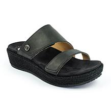 Revitalign Breakwater Leather Wedge Sandal