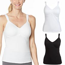 Rhonda Shear 2-pack Cotton Molded Cup Camisole
