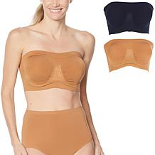 Rhonda Shear 2-pack Underwire Bandeau with Removable Pads
