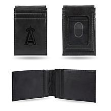 Rico Angels Laser-Engraved Black Front Pocket Wallet