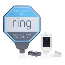 Ring Spotlight HD Security Cam w/Ring Assist+ and Solar Sign