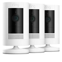 Ring  Stick Up Security Camera 3-pk w/3 Solar Panels & Ring Assist+