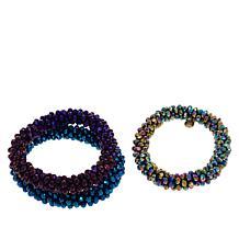 R.J. Graziano Beaded 3-piece Beaded Stretch Bracelet Set