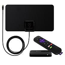 Roku Express Media Streamer w/Antop 30-Mile Indoor Antenna & Voucher