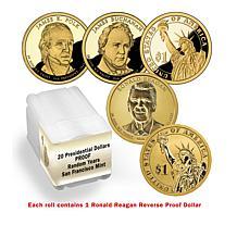 S-Mint Proof Random Presidential Dollar 20-Coin Roll