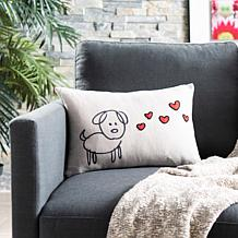 "Safavieh 12"" x 18"" Puppy Love Pillow"