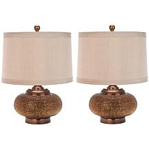 Safavieh Alexis Set of 2 Gold Bead Lamps
