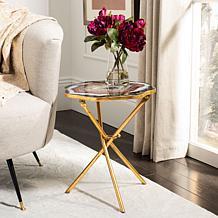 Safavieh Celeste Faux Agate Side Table