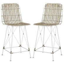 Safavieh Minerva Wicker Counter Stools - Set of 2