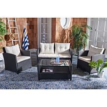 Safavieh Vellor 4-Piece Living Set - Black, Grey